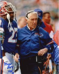 "LEVY, MARV AUTO ""HOF 01"" (BILLS/WITH HEADSET ON) 8X10 PHOTO - Mounted Memories"