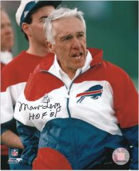 Buffalo Bills Marv Levy Autographed 8'' x 10'' Photograph with ''Hall Of Fame 01'' Inscription - Mounted Memories