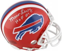 "Marv Levy Buffalo Bills Autographed Throwback Riddell Mini Helmet with ""HOF 01"" Inscription - Mounted Memories"