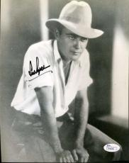 Lew Ayres Jsa Coa Certed Hand Signed 8x10 Photo Authenticated Autograph