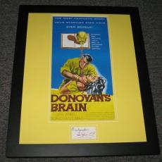 Lew Ayres Signed Framed Donovan's Brain 16x20 Photo Display JSA
