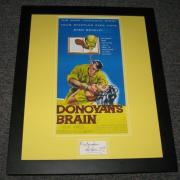 Lew Ayres Signed Framed Donovan's Brain 16x20 Photo Display JSA