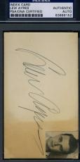 Lew Ayres Vintage 1930`s Signed 3x5 Index Card Psa/dna Authentic Autograph