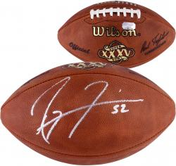 Ray Lewis Autographed Super Bowl XXXV Football