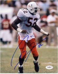 "Ray Lewis Miami Hurricanes Autographed 8"" x 10"" Vertical Photograph"