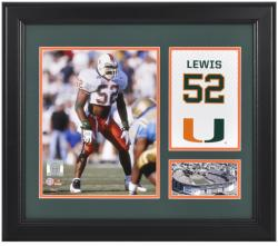 """Ray Lewis Miami Hurricanes Campus Legend 12"""" x 15"""" Framed Collage"""