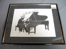 Liberace Signed & Framed A Tune Off The Top Of My Head Lithograph Dated 1986 JSA