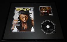 Lil Wayne 16x20 Framed Rebirth CD & 2009 Rolling Stone Display