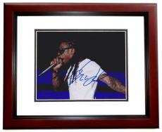 Lil Wayne Signed - Autographed Concert 8x10 inch Photo MAHOGANY CUSTOM FRAME - Guaranteed to pass PSA or JSA