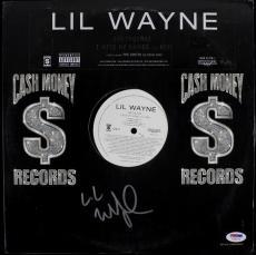 Lil Wayne Earthquake Signed Album Cover W/ Vinyl Autographed PSA/DNA #T22179