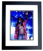 Lil Wayne Signed - Autographed Rap Concert 8x10 inch Photo BLACK CUSTOM FRAME - Guaranteed to pass PSA or JSA