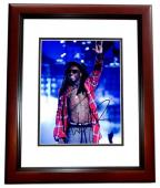 Lil Wayne Signed - Autographed Rap Concert 8x10 inch Photo MAHOGANY CUSTOM FRAME - Guaranteed to pass PSA or JSA