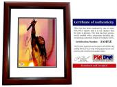 Lil Wayne Signed - Autographed Rap Concert 8x10 inch Photo MAHOGANY CUSTOM FRAME - Weezy Dwayne Carter - PSA/DNA Certificate of Authenticity (COA)