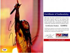 Lil Wayne Signed - Autographed Rap Concert 8x10 inch Photo - Weezy Dwayne Carter - PSA/DNA Certificate of Authenticity (COA)