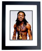 Lil Wayne Signed - Autographed Weezy Rap Concert 8x10 inch Photo BLACK CUSTOM FRAME - Guaranteed to pass PSA or JSA