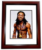 Lil Wayne Signed - Autographed Weezy Rap Concert 8x10 inch Photo MAHOGANY CUSTOM FRAME - Guaranteed to pass PSA or JSA