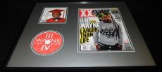 Lil Wayne Signed Framed 2011 XXL Magazine Cover & Tha Carter CD Display