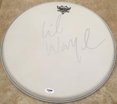 Lil Wayne Wezzy The Carter Signed REMO Drumhead Drum Head PSA/DNA COA