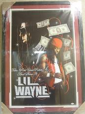 "Lil Wayne ""work Hard Play Hard"" Autographed Framed Poster Jsa Coa Ymcmb ""yuck"