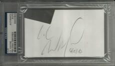 Lil Wayne YOUNG MONEY THE CARTER Signed 3x5 Index Card PSA/DNA Slabbed