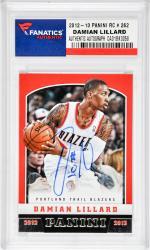 Damian Lillard Portland Trail Blazers Autographed 2012-13 Panini #262 Rookie Card