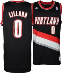 Damian Lillard Portland Trail Blazers Autographed adidas Swingman Black Jersey with 2012-13 ROY Inscription - Mounted Memories