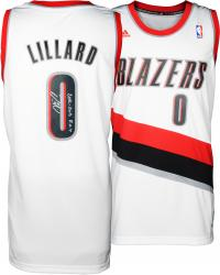 Damian Lillard Portland Trail Blazers Autographed adidas Swingman White Jersey with 2012-13 ROY Inscription - Mounted Memories