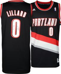 Damian Lillard Portland Trail Blazers Autographed adidas Swingman Black Jersey with Rip City Inscription - Mounted Memories