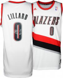 Damian Lillard Portland Trail Blazers Autographed adidas Swingman White Jersey with Rip City Inscription - Mounted Memories
