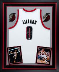 Deluxe Framed Damian Lillard Autographed Jersey - RIP City