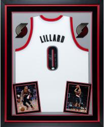 Deluxe Framed Damian Lillard Signed Jersey - ROY