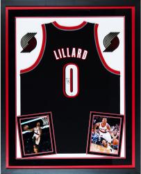 Autographed Damian Lillard Jersey - Deluxe Framed