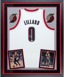Signed Damian Lillard Deluxe Framed Jersey