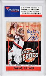Damian Lillard Portland Trail Blazers Autographed 2013 Panini Prestige #11 Card with Rip City Inscription