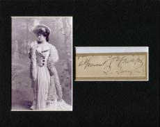 Lillie Langtry Theater Actress Royal Mistress Signed Autograph Photo Display