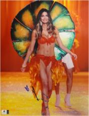 Lily Aldridge hand Signed Autographed 11x14 Photo Sexy Victorias Secret GA766814