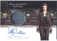 Lily Collins 2013 Leaf Mortal Instruments City Bones Wardrobe Variant AUTOGRAPH