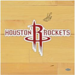 "Jeremy Lin Houston Rockets Autographed 12"" x 12"" Floor Piece"