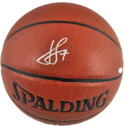 Spalding Jeremy Lin Autographed Indoor/Outdoor Basketball - Mounted Memories
