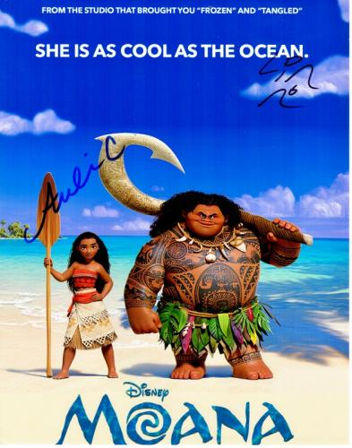 Lin-Manuel Miranda and Auli'i Cravalho Signed - Autographed MOANA 11x14 inch Photo - Guaranteed to pass PSA/DNA or JSA