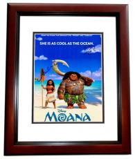 Lin-Manuel Miranda and Auli'i Cravalho Signed - Autographed MOANA 11x14 inch Photo - Guaranteed to pass PSA/DNA or JSA - MAHOGANY CUSTOM FRAME