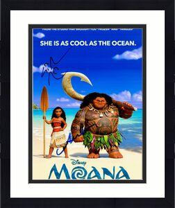 Lin-Manuel Miranda and Auli'i Cravalho Signed - Autographed MOANA 8x10 inch Photo - Guaranteed to pass JSA