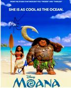 Lin-Manuel Miranda and Auli'i Cravalho Signed - Autographed MOANA 8x10 inch Photo - Guaranteed to pass JSA