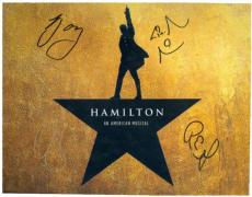 Lin Manuel Miranda autographed 8x10 photo (Hamilton Broadway Play) Image #SC88 signed by Rory OMalley Chris Jackson Renee Goldsberry