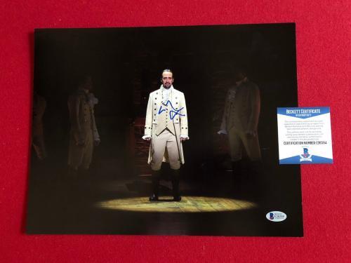 "Lin-Manuel Miranda, ""Autographed"" (Beckett) 11x14 Photo (Hamilton)"