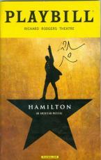 Lin Manuel Miranda autographed Hamilton Playbill Program Broadway