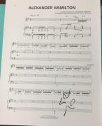 Lin-manuel Miranda Signed Autograph Alexander Hamilton Rare Broadway Sheet Music