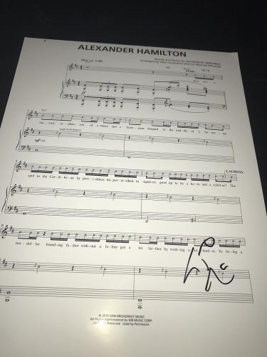 Lin Manuel Miranda Signed Autograph Sheet Music Alexander Hamilton Broadway X1