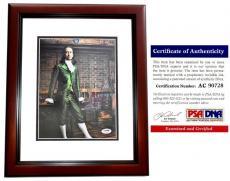 Lin-Manuel Miranda Signed - Autographed HAMILTON 8x10 inch Photo - PSA/DNA Certificate of Authenticity (COA) - MAHOGANY CUSTOM FRAME - Lin Manuel Miranda