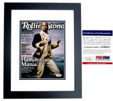 Lin-Manuel Miranda Signed - Autographed HAMILTON 8x10 inch Photo with PSA/DNA Authenticity - BLACK CUSTOM FRAME - Lin Manuel Miranda